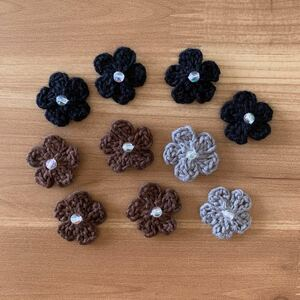 ハンドメイド かぎ針編み お花モチーフ