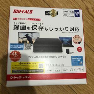 バッファロー 外付けハードディスク 4.0TB HD-NRLD4.0U3-BA Buffalo ポータブル据え置きHDD