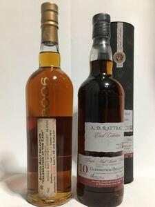 ボトラーズ ウイスキー グレンロセス10年(デュワーラトレー)&11年(カーンモア) 2本セット