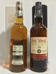 ボトラーズ ウイスキー ヴォルト ダルユーイン10年&ダンカンテーラー ダルユーイン12年 2本セット