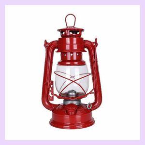 セール☆オイルランタン オイルランプ レトロ ハリケーンランプ 灯油ランプ ランプ ライト レッド 可愛い 昭和レトロ