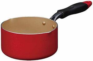 片手鍋 16cm 片手鍋 エバークック ミルクパン 16cm IH対応 レッド 1年保証 ドウシシャ