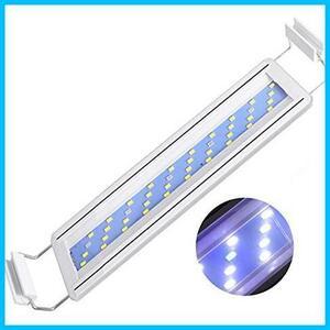 LEDGLE 水槽ライト 8W アクアリウム ライト 30~40CM水槽対応 40LED(5青35白) LED 魚ライト 水槽照明・水草育成・観賞魚飼育