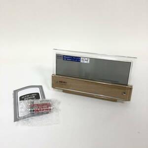 【未使用】 電波時計 電波クロック セイコー SEIKO SQ782B 白色LED アラーム 温湿度計付 カレンダー 置時計 (N01025_3_9)