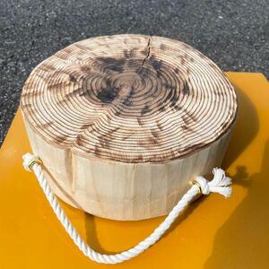 ヒノキ 背割り、焼き、表面加工済み 薪割り台