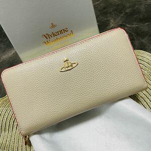 《 新品未使用 》Vivienne Westwood ファスナー長財布 レザー ヴィヴィアンウエストウッド レディース財布