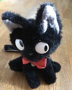 ◆スタジオジブリ 魔女の宅急便 ジジ ぬいぐるみ 黒猫 約17㎝ 徳間コミュニケーションズ 中古品
