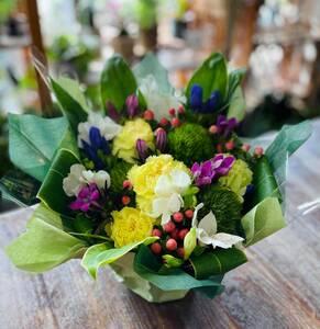 季節のフラワーアレンジメント 和風 お花 オリジナル