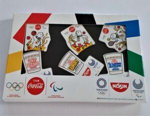 コカコーラ社 日清食品カップヌードル オリジナルピンズセット 東京オリンピック2020 ピンバッジ