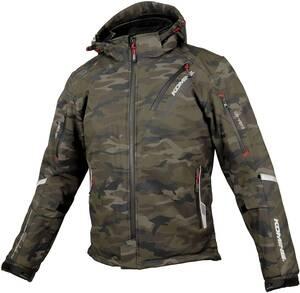 現状品 コミネ(KOMINE) バイク用 プロテクトソフトシェルウィンターパーカ-イフ Camouflage XL JK-579