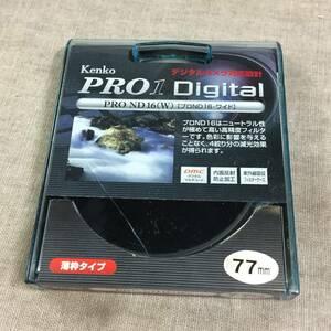 現状品 Kenko カメラ用フィルター PRO1D プロND16 (W) 77mm 光量調節用 277447