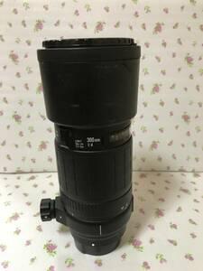 焦点 キャノン CANON SIGMA 300mm f4 APO フード内藏 三脚座付