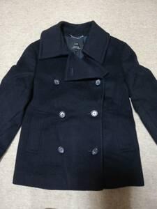 美品★ 組曲 濃紺のハーフコート 32