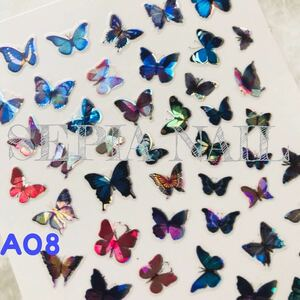 ホログラム ネイル シール バタフライ 蝶々【A08】1836