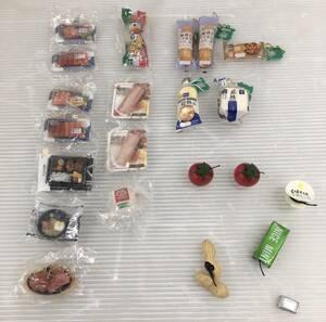 食品サンプル ストラップ さしみ 弁当 うまい棒 ベーコン Pasco プチトマト アーモンド ガム ミニチュアスナイパー おまとめ 美品 現状渡し