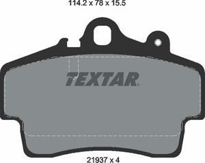 TEXTAR tech Star teki Star brake pad front PORSCHE Porsche BOXSTER Boxster 986 2193702
