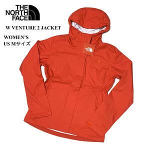 新品 US Mサイズ(L位) ノースフェイス レディース ベンチャー2ジャケット ナイロン ジャケット レッド アウトドア 登山 防風 NPW51903Z