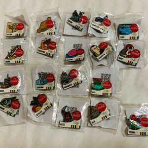 東京オリンピック コカコーラ 都道府県記念ピンバッジ 19個セット 被りなし 新品 送料込み