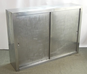 M868Mちょる【厨房機器】業務用ステンレスキャビネット 戸棚 食器庫 収納棚 大型<幅1700×奥行400×高さ1235mm>/引き取り可