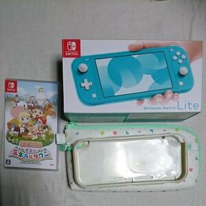 Nintendo Switch Lite+どうぶつの森ケース・カバー+牧場物語 再開のミネラルタウン