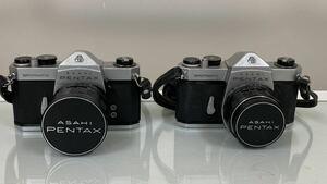 ★ASAHI PENTAXペンタックス フィルムカメラ一眼レフ SPOTMATIC SP 2台 レンズ Super-Takumar 1:3.5/24 Super-Takumar 1:1.4/50
