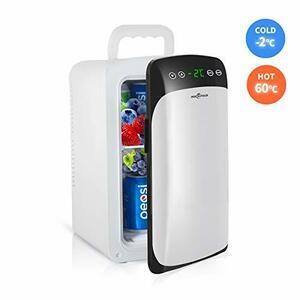 白 10L Rockpals 冷温庫 冷蔵庫 小型 -2℃~60℃ 10L 保冷庫 ミニ冷蔵庫 温度調節可能 温度表示 保冷ボッ
