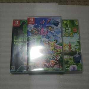 中古/ニンテンドースイッチソフト Newポケモンスナップ、ルイージマンション3、ピクミン3 デラックス 3本セット Nintendo Switch