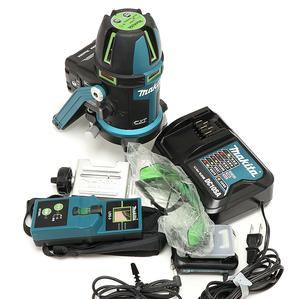 マキタ 充電式屋内・屋外兼用墨出し器 SK505GDN バッテリ1個 充電器 受光機 ケース 電池用パック