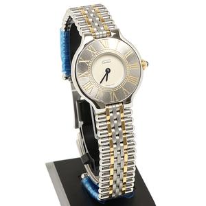 美品 カルティエ マスト21 ヴァンティアン 125000P レディース コンビ Cartier 腕時計