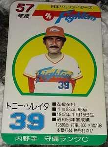 タカラプロ野球カードゲーム昭和57年度日本ハムファイターズ ソレイタ