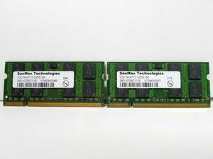 * free shipping operation goods *SanMax SO-DIMM PC2-5300S DDR2 667MHz SO-DIMM 2GB 2 sheets total 4GB with guarantee