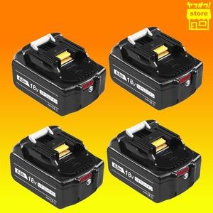 新品 BL1860b マキタ 18V 4段階 残量表示付 マキタ互換バッテリー 6.0Ah 4個セット BL1830 BL1850 BL1860対応 PSE インパクトドライバー