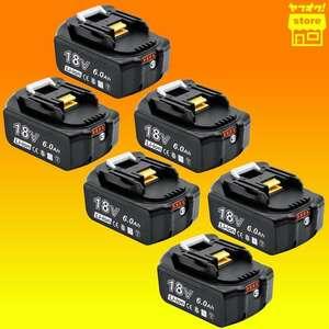特価品★新品★大容量★マキタ 18V BL1860b 残量表示 マキタ 互換 バッテリー 6.0Ah 6個 セット BL1830 BL1860
