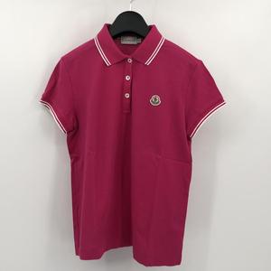 【中古】MONCLER モンクレール ポロシャツ ピンク
