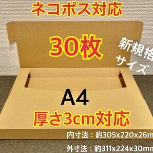 ★新商品【30枚】新規格A4サイズ(最大)ネコポス対応 段ボール箱
