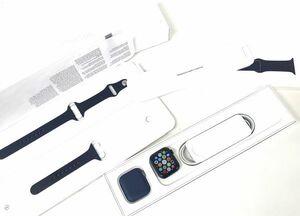 θ[AB rank /BT capacity 97%]Apple Watch series6 40mm GPS blue aluminium / deep navy sport band MG143J/A box / accessory S18783762373