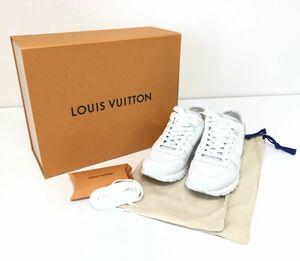 θ LOUIS VUITTON ルイヴィトン ランアウェイ・ライン スニーカーホワイト モノグラム キャンバス 24.5cm 1A5AXS 箱/付属品 S99398110615