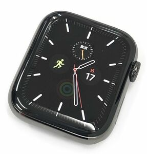 ! ultimate beautiful goods AppleWatch Series6 GPS+Cellular 44mm graphite SS case / black sport band M09H3J/A band unopened S87252638868
