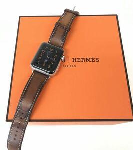 θ【Bランク/BT容量100%】Apple Watch HERMES Series 3 GPS+Cellularモデル 38mm シンプルトゥール MQMP2J/A 箱/ケーブル S58404272762