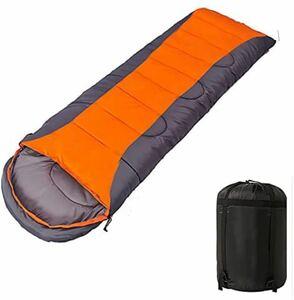 寝袋 封筒型 軽量 暖かくて便利 高機能防水 通気 保温 車中泊 防災用