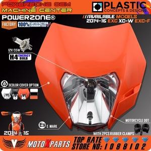 ヘッドライトオートバイダートバイクモトクロスsupermoto ユニバーサル オレンジktm sx exc xcf sxf smr 2015 16ヘッドランプ