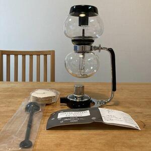 ハリオ コーヒーサイフォン モカ・ブラック MCA-3B 数回使用美品