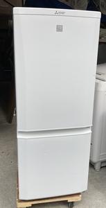 【RKGRE-655】特価!三菱/146L 2ドア冷凍冷蔵庫/MR-P15EC-KW/中古美品/2018年製/当社より近隣無料配達!/即決あり
