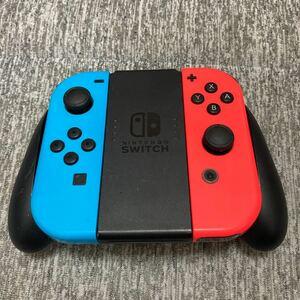 Nintendo Switc Joy-Con ネオンブルー ネオンレッド グリップ付き