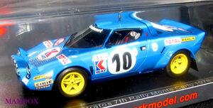 【Ma】SP☆1/43 S9092 ランチアストラトス Lancia Stratos No.10 7th Rally Monte Carlo 1978Michele Mouton - Francoise Concon