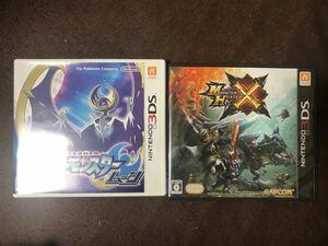 3DS ポケットモンスタームーン ポケモン 3DSソフト ポケ モンスターハンタークロス モンハンX