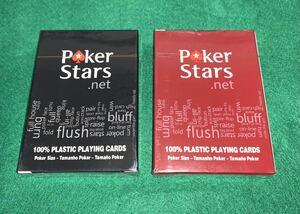 新品未開封♪ COPAG製ポーカートランプ2デック(赤+黒) カットカード付属