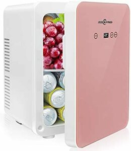 ピンク 10L Rockpals 小型冷温庫 氷点下-2℃~60℃ 10L 保冷庫 ミニ冷蔵庫 温度調゜可能 保温・保冷両用 温