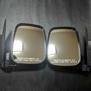 Vamos door mirror left right set HM1 black B92P used