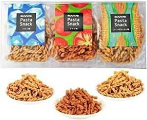 三州製菓 パスタスナック Pasta Snack カリカリ食感 お菓子 おつまみ (ギフト3袋入(ソルト、トマト、コーンポタージ